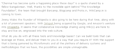 Growing Importance of WiKi's from Vijay Anand's Blog