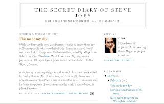 Steve Jobs's Blog?