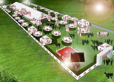tyskie plan miasteczka kibica