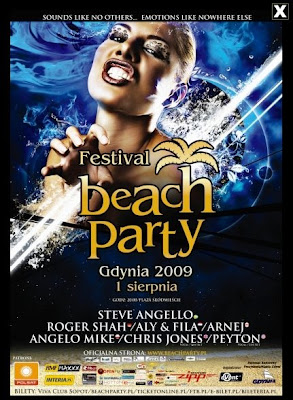 plakat beach party gdynia 2009