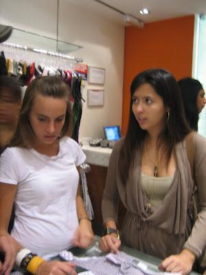 The Brazilian students were so kind to take us bikini shopping.