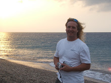 Jeff at sunset, Northern tip of Rhodes