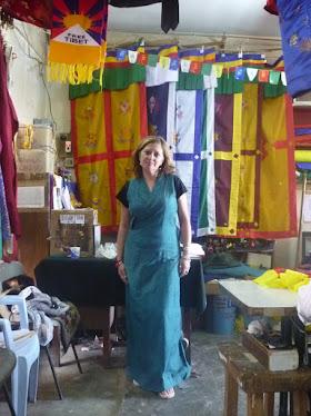 Me compré un traje típico tibetano en Dharamsala.