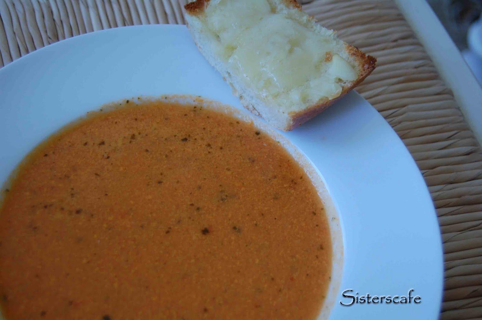 Creamy Tomato Soup with Pesto