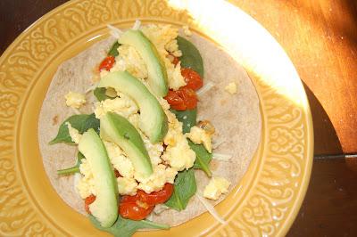Breakfast Burrito–vegetarian and oh so good!