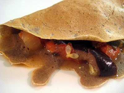 Ratatouille Buckwheat Crepes