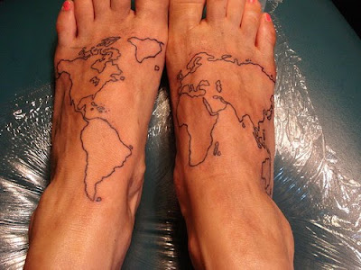 World Map Tattoos For Men · Tribal Flower Tattoo- Tattoos For Girl