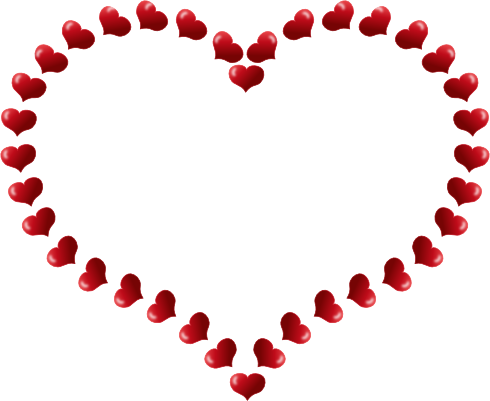 red love heart outline. quot;I Love Youquot;.