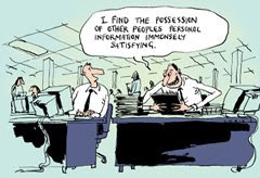 online privacy cartoon