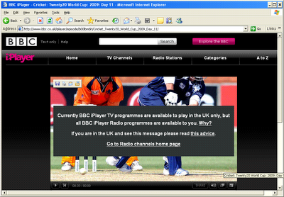 BBC Iplayer being Blocked outside UK