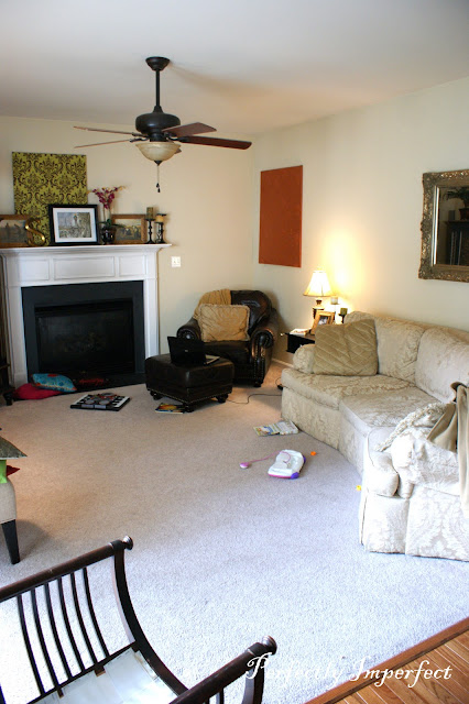 lisa s living room before and after perfectly imperfect