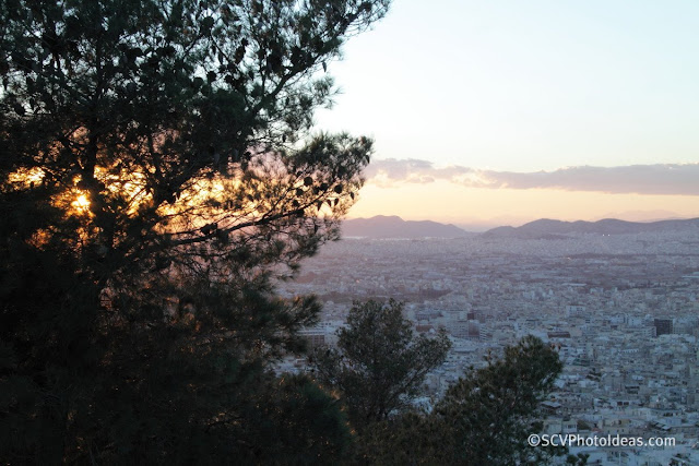 Twilight over Athens sunset