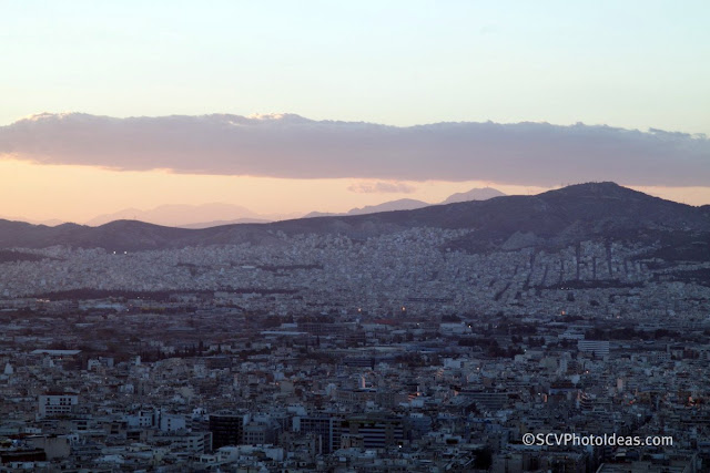 Twilight over Athens north west view