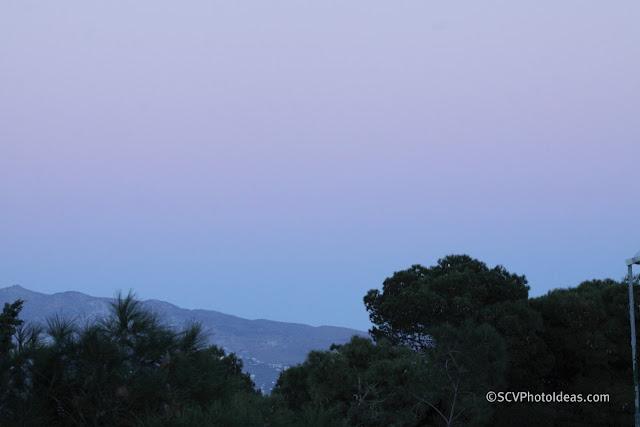 Twilight over Athens - purple sky