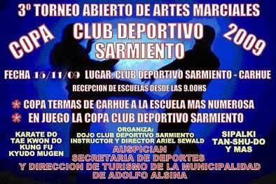3º TORNEO ABIERTO DE ARTES MARCIALES (CARHUE 16/11/2009)