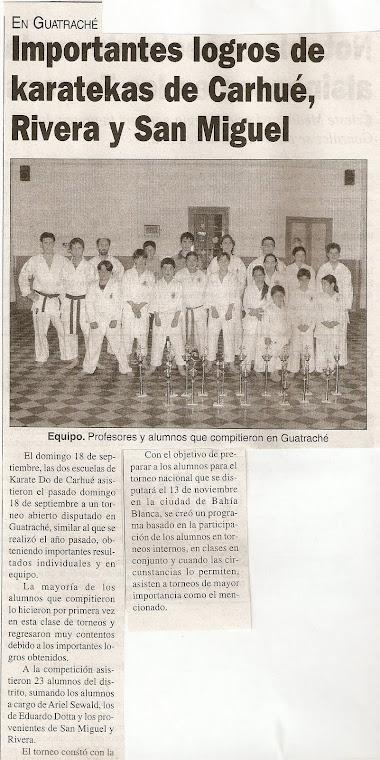 TORNEO ABIERTO DE ARTES MARCIALES COPA CIUDAD DE GUATRACHE - 18-09-05