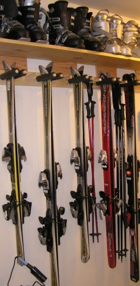 greengate ranch remodel quick and dirty ski rack for the garage. Black Bedroom Furniture Sets. Home Design Ideas