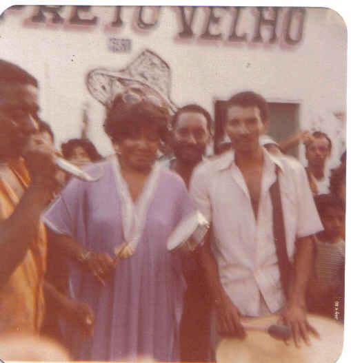 Visita da Cantora Alcione no Preto Velho em 1980 !