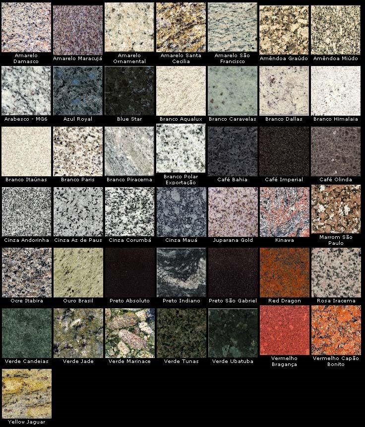 marmoraria salles modelos de granitos