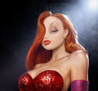 The Real Homer, Mario and Jessica Rabbit