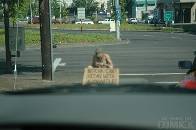 Fuuy Beggars With Funny Signs