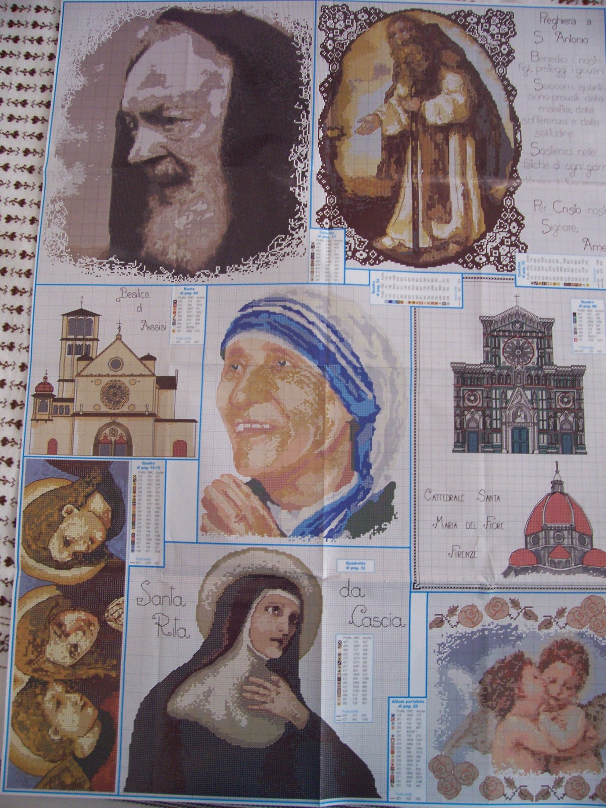 Schemi punto croce immagini sacre