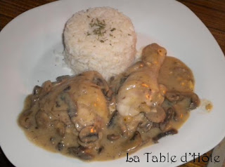 Poulet au vin blanc champignons - Cuisse de poulet au vin blanc ...