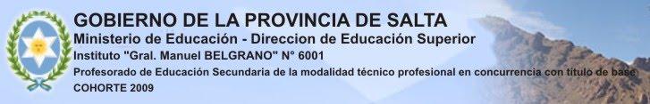 Profesorado Educac. 2ria Modal. Tec-Profes.- 6001