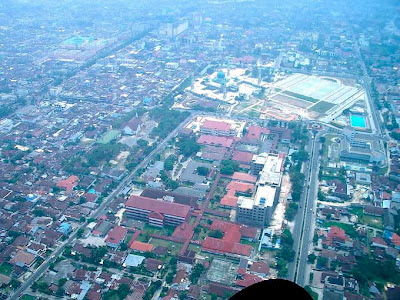 Pekanbaru Riau from air