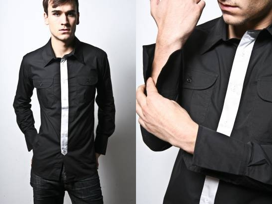 Black Dress Shirts Boys - lace black dress