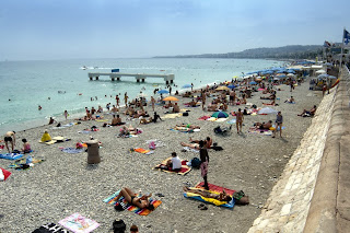 One of the beachs in Nice, France
