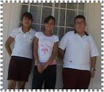 Valeria, Brayan y Ari de 6º B