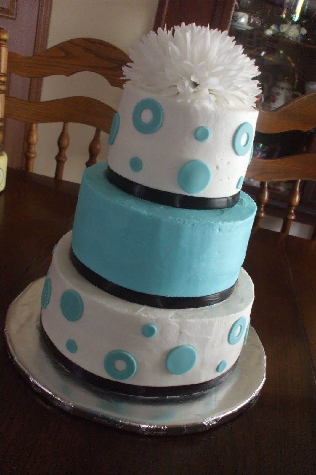 The Simple Cake Tiffany Blue & Brown Wedding Cake