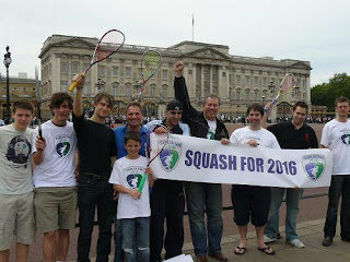 World Squash Day in at Buckingham Palace