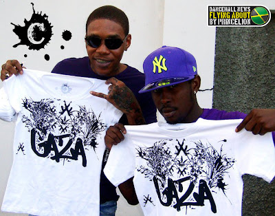 Vybz Kartel And Popcaan With Gaza Tees