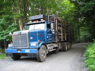 Rig Delivering Long Lengths of Firewood