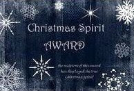 Christmas Spirit Award