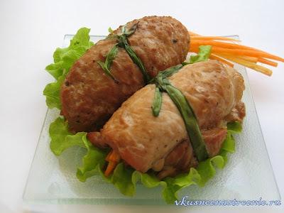 Свиные рулетики по-японски (рецепт)