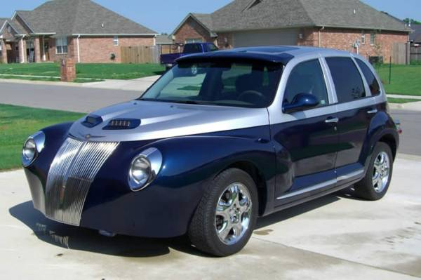The Ugly Car Blog Pt Cruiser Gaudy Mods Galore