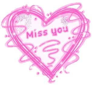 I miss you, pink heart, butterflies :: Miss You :: MyNiceProfile.com
