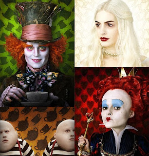 The Charcters of Alice in Wonderland created by the Makeup Artists of the Disney Film