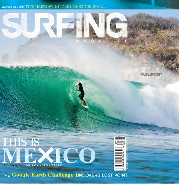 Portada del surfing magazine septiembre del 2009