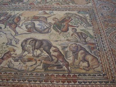 Mosaico de la cacería