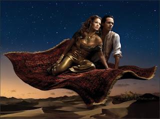 j-lo and marc in Aladdin hot photo