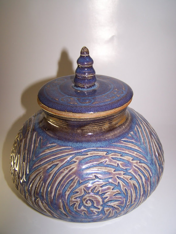 Carved Covered piece w/Lid