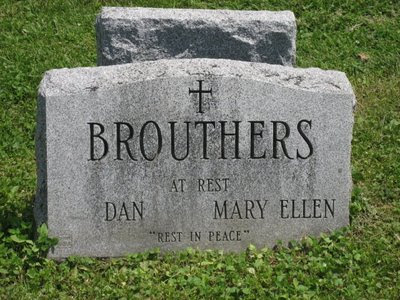 Dan Brouthers' head stone