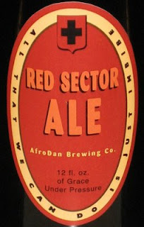 Red Sector Ale label