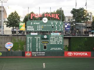 PGE Park scoreboard