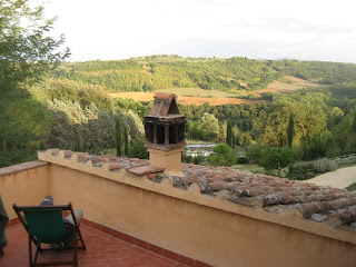 View from our balcony at Torraccia di Chiusi