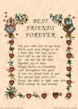friends forever sayings. poems for best friends forever